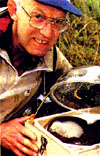 Don Merton With a Kakapo Chick